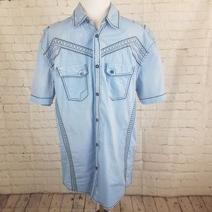 Roar Blue Signature Edition Button Down Shirt